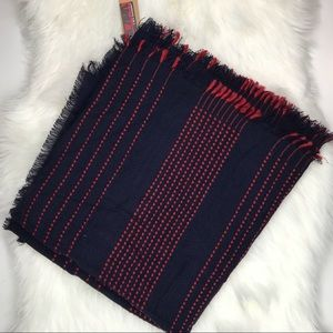 lava Accessories Accessories - Navy Blue Red Blanket Scarf